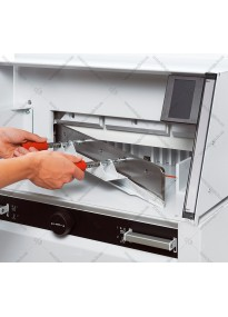 Device for replacing (installing) a guillotine knife EBA5260