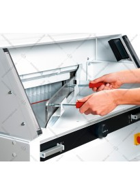 Device for replacing (installing) a guillotine knife EBA6660